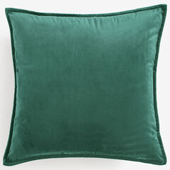 "BH Studio 20""Sq. Velvet Pillow Cover, MISTLETOE GREEN"