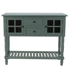Antique Iced Blue Buffet Condole , ICED BLUE