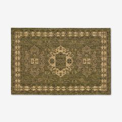 "Carmel Indoor/Outdoor Kilim Rug 3'3"" x 4'11"", GREEN"