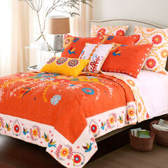 Topanga Quilt Set , ORANGE