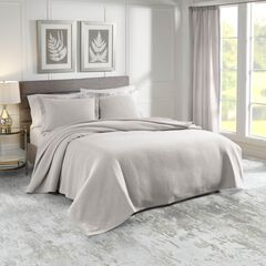 Sunset European Matelassé Coverlet Set, GRAY
