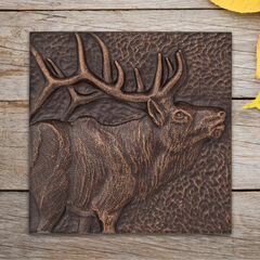 "Elk 8"" x 8"" Indoor Outdoor Wall Décor, ANTIQUE COPPER"