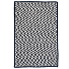 Houndstooth Twist Navy Rug, NAVY
