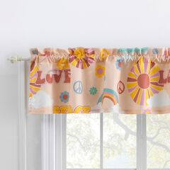 Greenland Home Cassidy Window Valance, PEACH