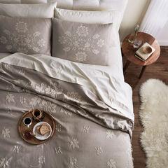 Claudette Jacquard Bedspread, GRAY