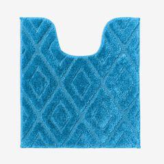 Diamond Contour Bath Rug, BLUE