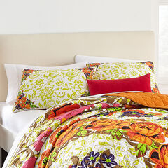 Priya Floral Print Sham, ORANGE BLOSSOM