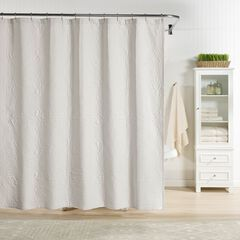 Raphaela European Matelassé Shower Curtain, SOFT GRAY