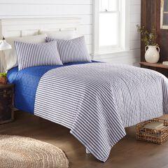 Seersucker 6-in-1 Quilt Set, STRIPE