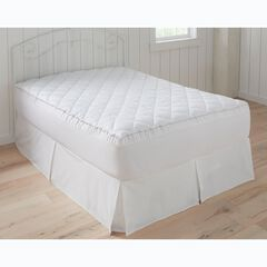 Overfilled Mattress Pad, WHITE