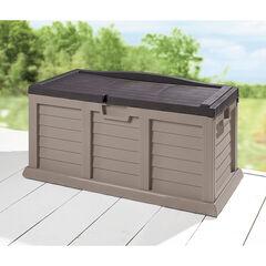 80-Gallon Rolling Deck Box, TAN