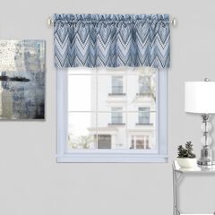"Avery Window Curtain Valance 58"" x 14"", ICE BLUE"