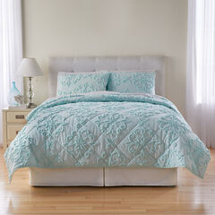 3-Pc. Chenille Quilt Set, SPA