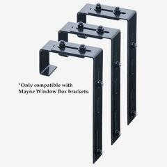 Adjustable Deck Rail Bracket 3-Pack, BLACK