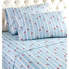 Micro Flannel® Print Sheet Set, BLUE