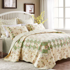 Bliss Quilt Set , IVORY
