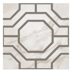 Retro 12x12 Self Adhesive Vinyl Floor Tile - Octagon - 20 Tiles/20 sq. ft., CHARCOAL