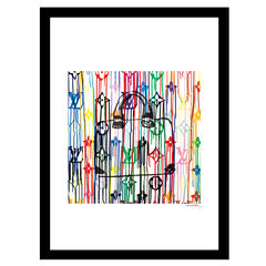 Louis Vuitton Bag Color Drip - Multi - 14x18 Framed Print, MULTI