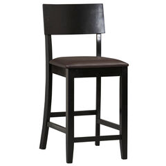 "Torino Collection Contemporary Counter Stool, 24""H, BLACK"
