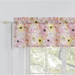 Greenland Home Misty Bloom Window Valance, PINK