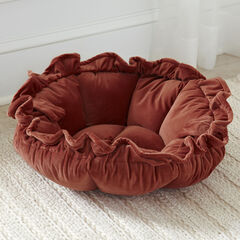 Velvet Cupcake Pet Bed, TERRACOTTA