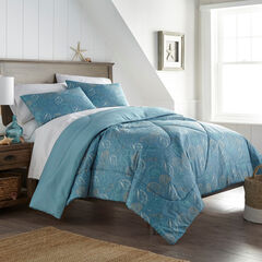 Seersucker Comforter Set, SEASHELLS