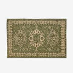 "Carmel Indoor/Outdoor Kilim Rug 4'10"" x 7'6"", GREEN"