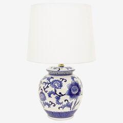 Blue Flower Table Lamp, BLUE WHITE