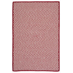 Houndstooth Twist Red Rug, RED