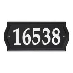 Nite Bright Ashland Reflective Address Numbers Sign, BLACK