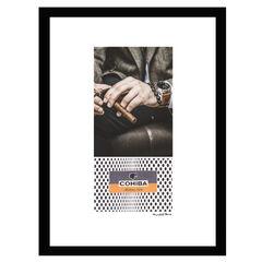 Cohiba Man With Watch - Brown / Black - 14x18 Framed Print, BROWN BLACK
