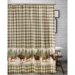 Moose Creek Shower Curtain , MULTI