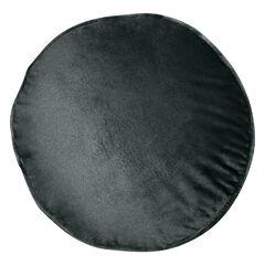 Panne Velvet Round Decorative Pillow , BLACK