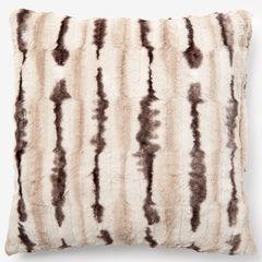 Animal Print Faux Fur Pillow Covers, CHINCHILLA PRINT