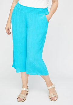 Gauze Pull-On Capri,