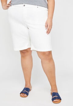 Jean Short With Rolled Cuff,