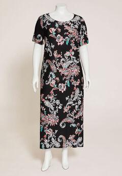 Paisley Garden Maxi Dress,