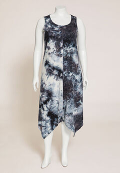 Suncoast Tie-Dye A-Line Midi Dress,