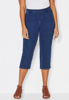 The Knit Jean Capri,