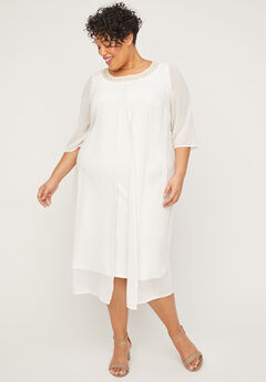 Elegant Oasis A-Line Dress,