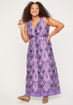 Skyline Breeze Twist-Knot Maxi Dress,