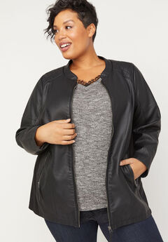 Shaw Heights Vegan Leather Jacket,