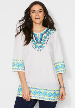 Embroidered Kurta Tunic,