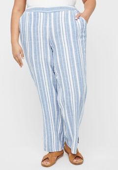 Seashore Stripe Linen Blend Pant,
