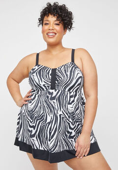 Safari Swirl Swimdress,