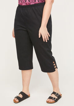Everyday Twill Pull-On Capri,