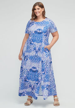 Kaleidoscope Sky Maxi Dress (With Pockets),