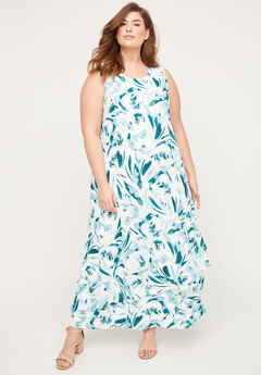 Black Label Floral Rush Maxi Dress,
