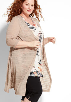Shadow Stripe Duster Cardigan,
