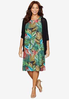 Botanical Blend A-Line Dress,